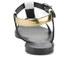 HUGO Women's Serine-R Flat Leather T-Bar Sandals - Open White: Image 3