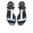 HUGO Women's Serine-R Flat Leather T-Bar Sandals - Open White: Image 2