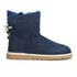 UGG Women's Selene Mini Sheepskin Boots - Navy: Image 1