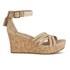 UGG Women's Lillie Suede Wedged Sandals - Wet Sand: Image 1