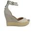 UGG Women's Devan Suede Wedged Sandals - Oyster: Image 1
