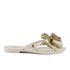 Melissa Women's Harmonic Glitter Bow Flip Flops - Ivory: Image 2