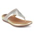 FitFlop Women's Banda Micro-Crystal Leather Toe Post Sandals - Pale Gold: Image 3