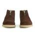 YMC Men's Crepe Sole Zip Front Suede Chukka Boots - Brown: Image 4