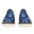 Grenson Women's Emily V Patent Leather Platform Brogues - Blue: Image 4