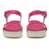 Love Moschino Women's Two Strap Patent Cleated Flatform Sandals - Pink: Image 4