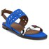 Thakoon Addition Women's Taylor 01 Bubble Snake Suede Two Part Flat Sandals - Pacific Blue: Image 5