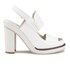 Jil Sander Navy Women's Leather Heeled Sandals - White: Image 1