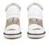 Jil Sander Navy Women's Leather Heeled Sandals - White: Image 4