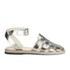 Jil Sander Navy Women's Leather Strappy Ankle Strap Sandals - Dark Grey: Image 1