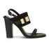 See By Chloé Women's Leather/Suede Heeled Sandals - Black: Image 1