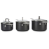 Le Creuset Toughened Non-Stick 3 Piece Saucepan Set: Image 2