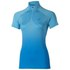 Asics Women's Shorts Sleeve Half Zip Running Top - Natural Blue: Image 1