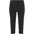 Asics Women's Stripe Running Capri - Black/Fizzy Peach: Image 2