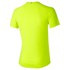 Asics Men's Stripe Shorts Sleeve Running T-Shirt - Safety Yellow: Image 2