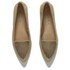 Ravel Women's Anaconda Suede Pointed Flat Shoes - Tan: Image 2