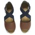 Ravel Women's Dallas Multi Strap Peep Toe Flat Sandals - Navy/Tan: Image 2