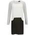 VILA Women's Sikka Contrast Shift Dress - Black: Image 1