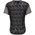 Six Ames Women's Raw Stripe Lace Back T-Shirt - Black: Image 2