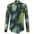 Matthew Williamson Women's Pleat Front Shirt - Peacock Palm Chiffon: Image 1