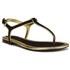 Lauren Ralph Lauren Women's Abegayle Metallic Trim Sandals - Black/Gold: Image 5