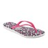 Havaianas Women's Slim Animals Flip Flops - White/Rose: Image 3
