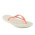 Havaianas Women's Slim Logo Flip Flops - White/Coral: Image 3
