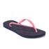 Havaianas Women's Slim Logo Flip Flops - Navy Blue/Pink: Image 3