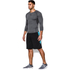 Under Armour Men's Armour HeatGear Long Sleeve Compression Top - Carbon Heather/Black: Image 3