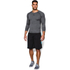 Under Armour Men's Armour HeatGear Long Sleeve Compression Top - Carbon Heather/Black: Image 2