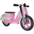 Kiddimoto Stripe Scooter - Pink: Image 1
