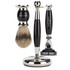 Truefitt & Hill Edwardian Badger MachIII Razor, Brush and Stand Set - Faux Ebony: Image 1