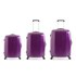 Redland '60TWO Collection' Hardsided Trolley Suitcase Set - Purple - 75/65/55cm (3 Piece): Image 1