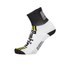Santini Tau Carbon M Profile Socks - White/Yellow: Image 1