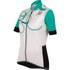 Santini Anna Women's Short Sleeve Print Jersey - White/Green: Image 1