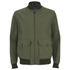 Knutsford Men's 'Made in England' Cotton Zip-Through Bomber Jacket - Lovat/Khaki: Image 1