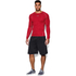 Under Armour Men's Armour HeatGear Long Sleeve Compression Top - Red/Steel: Image 3