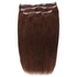 Beauty Works Deluxe Clip-In Hair Extensions 18 Inch - Chocolate 4/6: Image 1