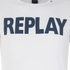 REPLAY Men's Printed Crew Neck T-Shirt - Optical White: Image 3