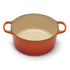 Le Creuset Signature Cast Iron Round Casserole Dish - 24cm - Volcanic: Image 2