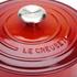 Le Creuset Signature Cast Iron Round Casserole Dish - 24cm - Cerise: Image 3