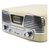 GPO Retro Memphis Turntable 4-in-1 Music System with Built in CD and FM Radio - Cream: Image 3