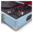 GPO Retro Attache Briefcase Style Three-Speed Portable Vinyl Turntable with Free USB Stick and Built-In Speakers - Sky Blue: Image 3