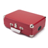 GPO Retro Attache Briefcase Style Three-Speed Portable Vinyl Turntable with Free USB Stick and Built-In Speakers - Red: Image 3