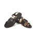HUGO Women's Plenn Triple Strap Leather Sandals - Black: Image 6