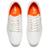 Boxfresh Men's Spencer Waxed Canvas Low Top Trainers - White/Orange: Image 2