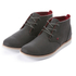 Boxfresh Men's Dalston Waxed Canvas Chukka Boots - Charcoal/Red: Image 1
