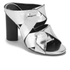Senso Women's Xanthe II Chrome Strappy Mule Sandals - Silver: Image 5