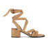 Senso Women's May Suede Strappy Heeled Sandals - Camel: Image 1