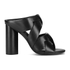 Senso Women's Xanthe I Leather Strappy Mule Sandals - Ebony: Image 1